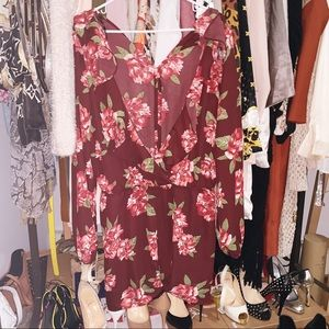 Like new floral jumpsuit